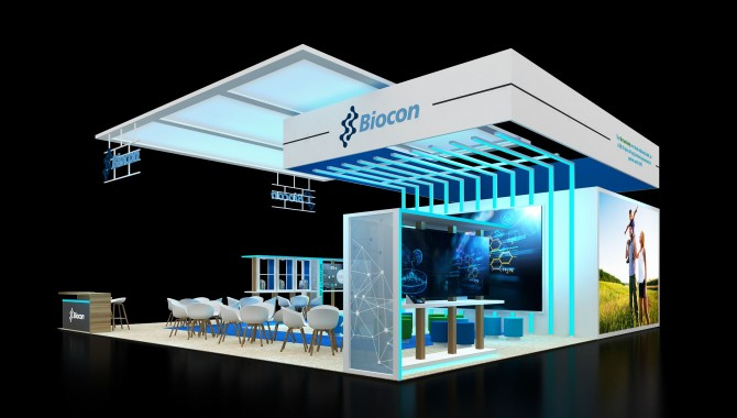 Product display stands for exhibition